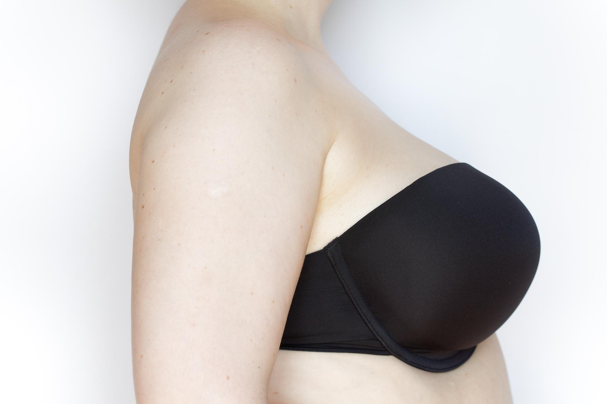 Porcelain Elan moulded strapless prawy profil bez ubrania