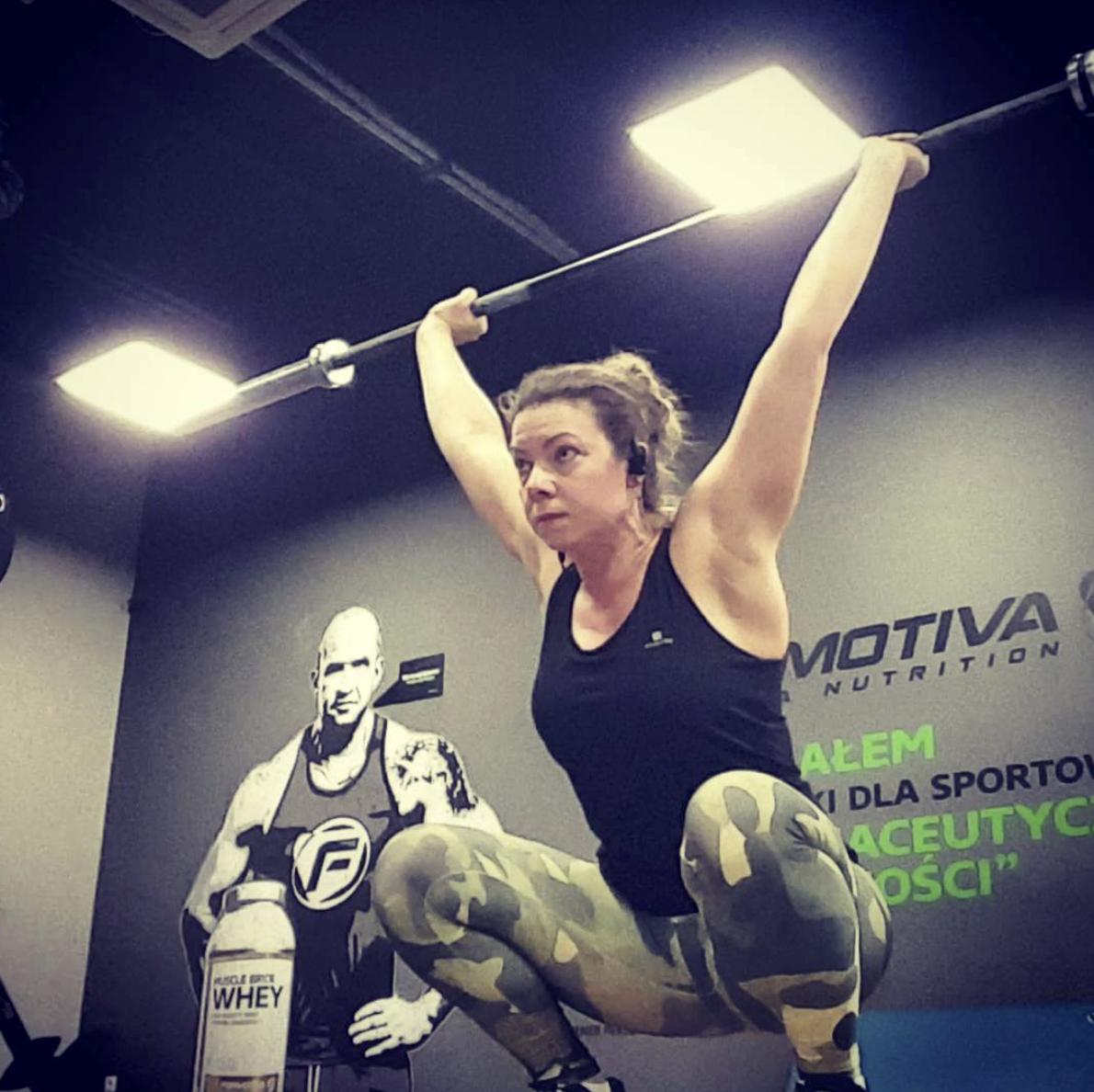 Joanna Tokarska na treningu